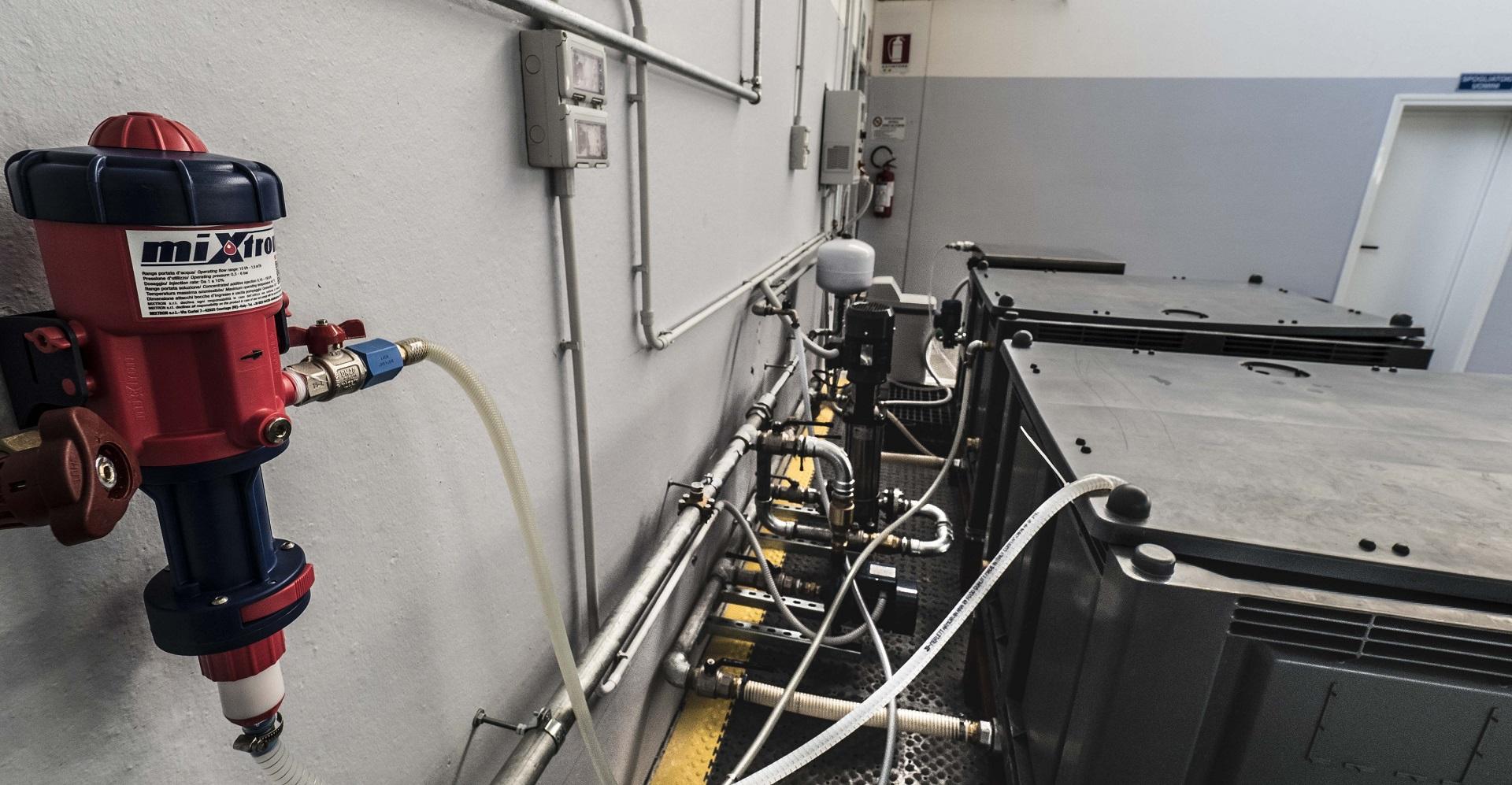 Dosatore Mixtron installato