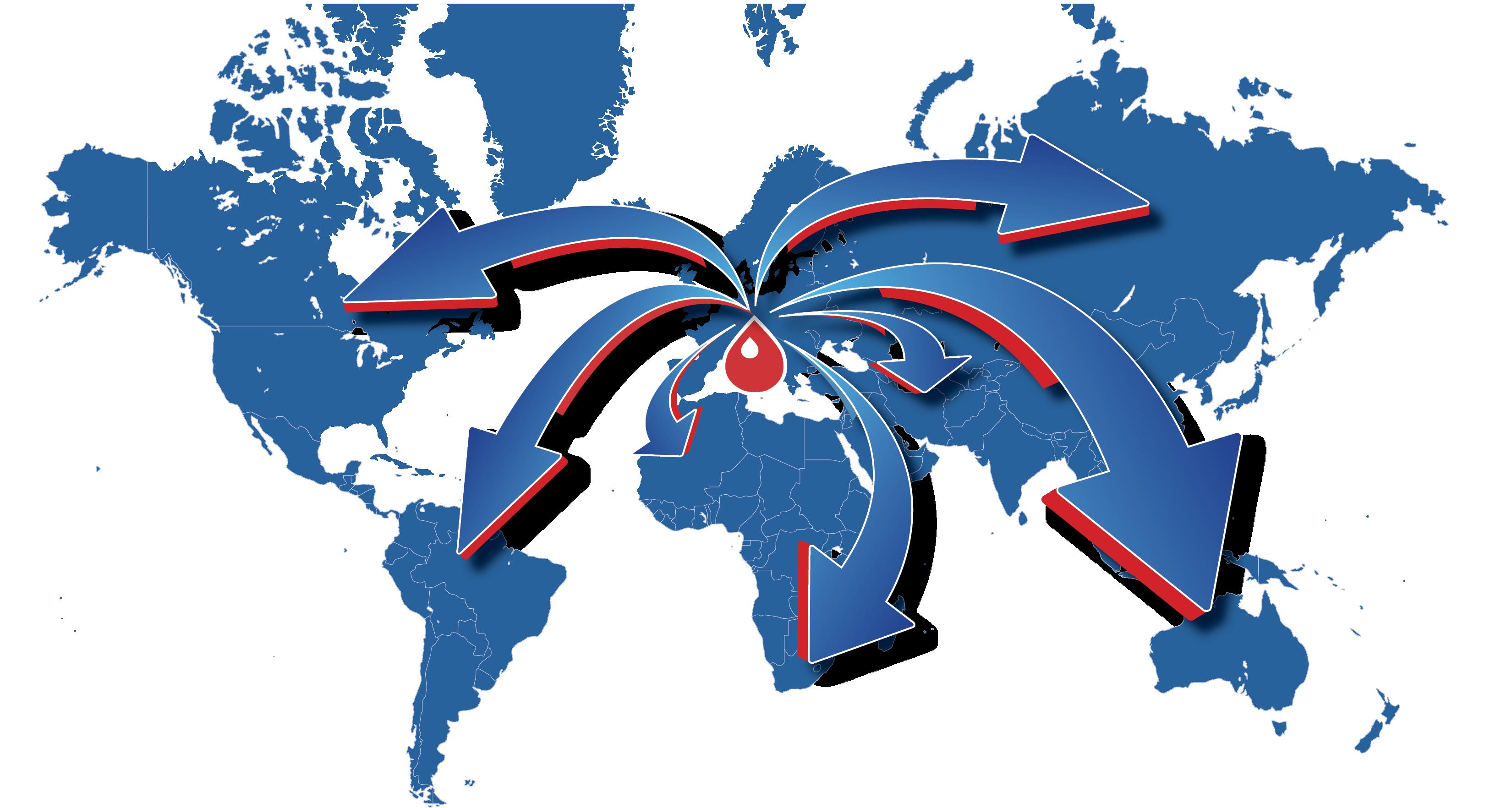 Mixtron Mappa Esportazioni